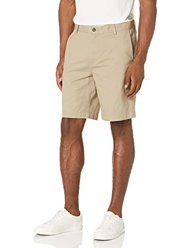 Amazon Essentials, Pantaloncini Uomo, Marrone (Khaki KHA), W34''