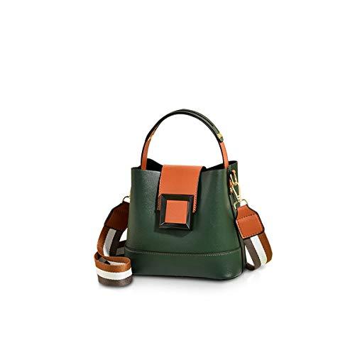 NICOLE & DORIS Kleine Handtasche Damen Beuteltasche Umhängetasche Designer Schnalle Taschen Henkeltasche Mehrfarbige Taschen Grün