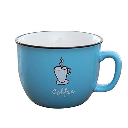 Cups elegant_RG Thé au Lait au Chocolat Couleur Bonbons Tasse en céramique Ensemble de 4