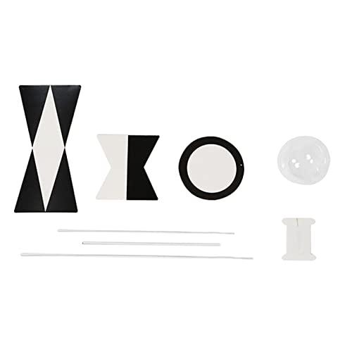 sharprepublic Juguete móvil Montessori, decoración de habitación de guardería, sonajeros Colgantes, Regalo para recién Nacidos, Juguete móvil Blanco y Negro - Necesita ensamblar
