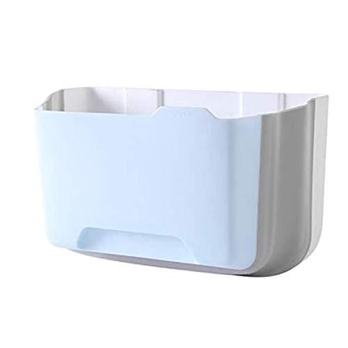 HDGKTYEL Cubos de Basura para la Cocina Montado en la Pared Plegable Bols de residuos Cocina Gabinete Puerta Colgante Papelera de Basura Coche Basura Basura Blue Blue (Color : Blue)