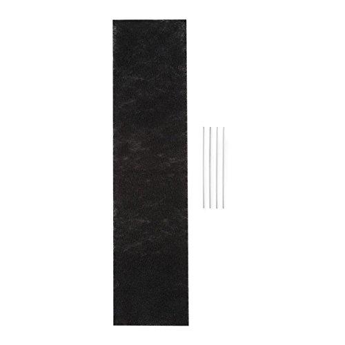 Klarstein Royal Flush 90 - Aktivkohlefilter, Aktivkohle-Filterfließ, Filtermatte, zur Umrüstung auf Umluftbetrieb, 67 x 16,7 cm (LxB), für Royal Flush 90 Downdraft Dunstabzugshaube, schwarz