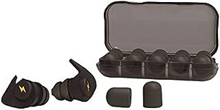 (JGP) 耳栓 睡眠用 みみせん 安眠 防音 スポンジ10個 シリカゲル 2個 JGP-120 (ブラック)
