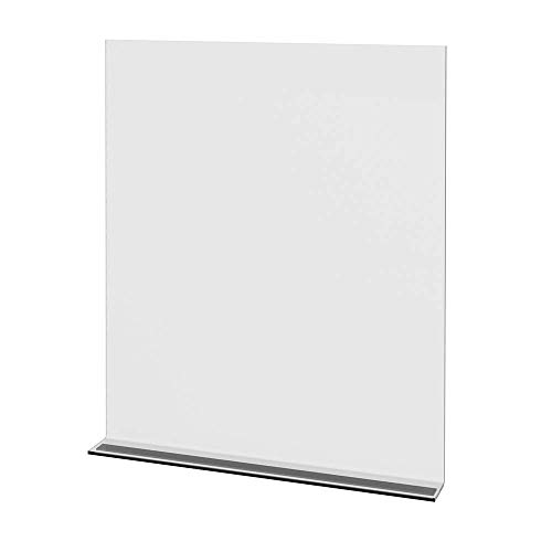 """Cashier Sneeze Guard - Adhesive Mount - Tool Free Installation on Checkout Counter - 24"""" x 29-1/2"""", Clear 3/16"""" Plexiglass Barrier by Grand + Benedicts"""