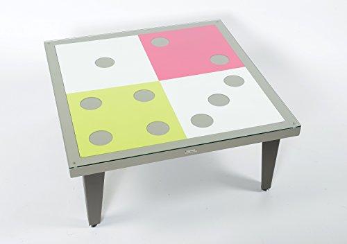 Styl'Métal 21 Table Basse Dés métal Taupe, Chocolat, Blanc, Vert anis, Fuschia