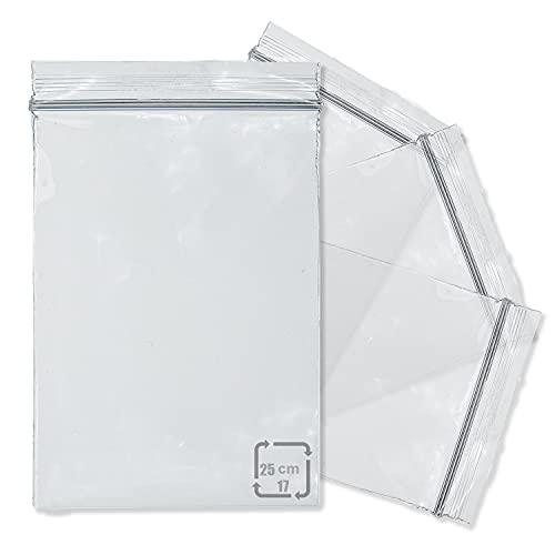 Bolsas Plastico Transparente,Bolsas Con Cierre Zip Pequeñas,Resellables Bolsas Plastico Autocierre 17x25cm 100pcs
