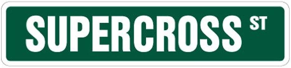 """Supercross Street Sign Dirtbike Motorcycle Racer Race Bike   Indoor/Outdoor   18"""" Wide"""