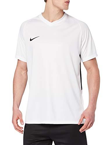 NIKE M NK Dry Tiempo Prem JSY SS Camiseta, Hombre, Blanco (White/Black), XL
