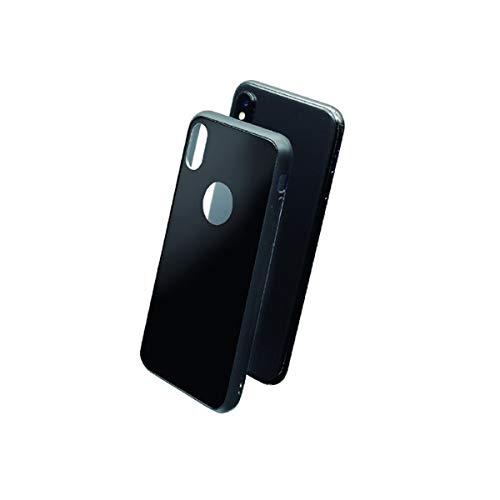 Muvit Skin - Carcasa para Apple iPhone XS/X (Vidrio Templado) Color Negro