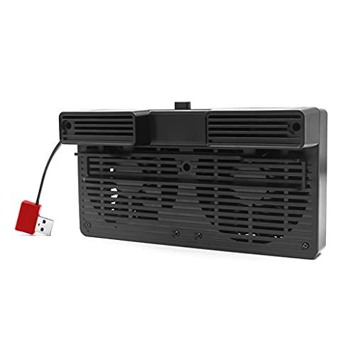 xllLU Ventilador de refrigeración dual USB disipador de calor Soporte compatible con NS Switch/Lite Consola enfriador Base del radiador NS Switch Accesorios usb ventilador de refrigeración dual