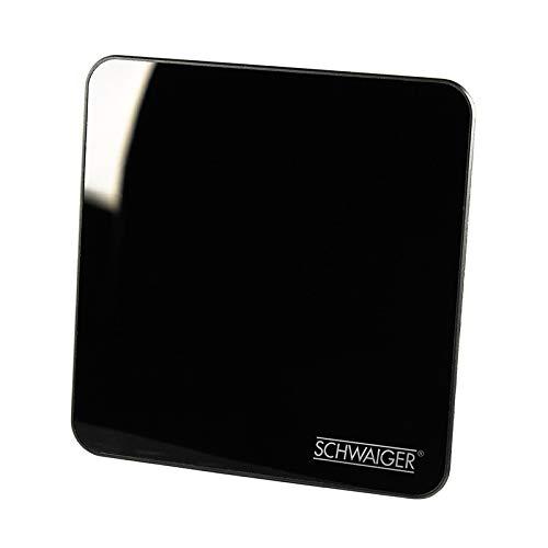 SCHWAIGER -20372- Antena DVBT-2 de interior con amplificador | máxima fuerza de la señal | integ. Filtro de corte LTE | para la recepción de DVB-T DAB+ y FM | conexión con el receptor DVBT-2 y la TV