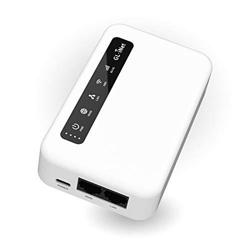 XE300(Puli) 4GLTE Mobile Smart VPN Router, Portable WiFi Wireless Travel Hotspot, EMEA(EP06-E Module Installed), Router/AccessPoint/Extender/WDSMode, OpenWrt, 5000mAhBattery, OpenVPNClient