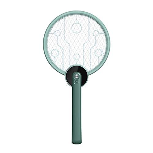Dreh- Und Faltbare Elektrische Fliegenklatsche, Wiederaufladbarer Mückenschläger, Mit Mückenschutzlampe, 3-lagigem Touch Mesh, USB-ladekabel - Tötet Mücken Und Fliegen Einfach Ab(2pack) (Grün)