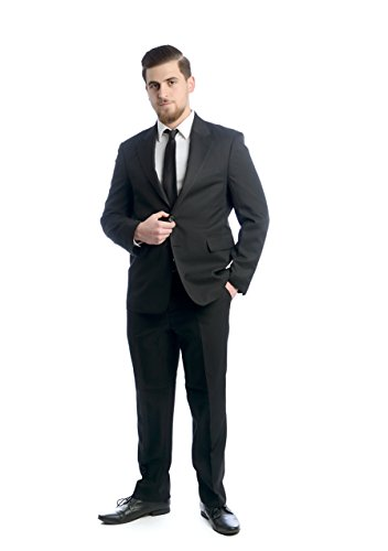 NGB Taillierter 2-TLG. Herren Anzug, 2-Knopf Sakko und Hose, Grau, Gr. 25
