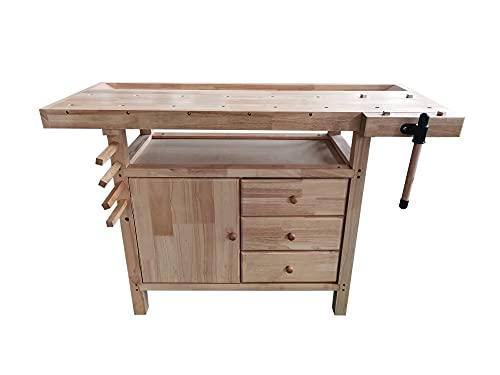 Banco da lavoro in legno 126x50x84