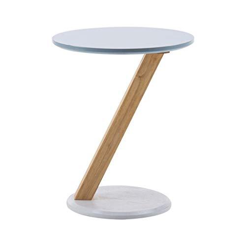 LICHUAN Mesa de café pequeña mesa de café de moda nórdica redonda mesa de café sexo madera en forma de Z pequeña mesa de café balcón sala de estar cafetería mesa auxiliar
