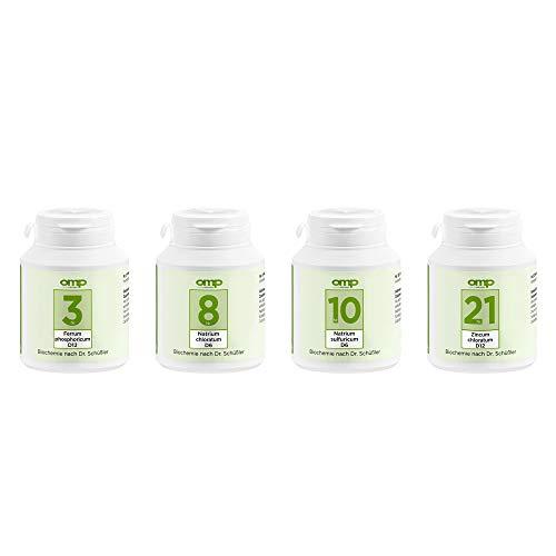 Schüssler Salze Immun-Aufbau-Kur | Nr. 3, 8, 10 und 21 je 400 Tabletten | glutenfrei