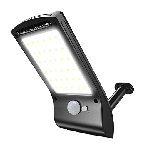 XIAOZHENT Lampada Parete Outdoor Solar Street Light Light Light 36 LED Sensore di Movimento Lampada di Sicurezza Rotatibile Batteria Solare Wireless Giardino Solar Garden Lighting