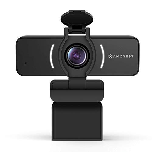 Amcrest 1080P Webcam mit Mikrofon und Abdeckung, USB-Kamera, Computer-HD-Streaming-Webkamera für PC und Laptop, Mikrofon, Weitwinkelobjektiv und großem Sensor für überlegenes schwaches Licht (AWC205)