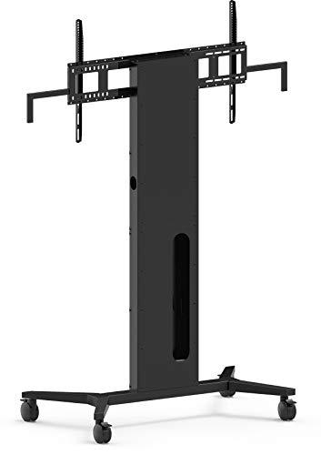 Vision K/ F40 Floorstand - Portable Portable Flat Panel Floor Stand Schwarz - Flachbildschirm-Bodenhalter (TV, 110 kg, 300 x 300 mm, 800 x 600 mm, 0-700 mm)