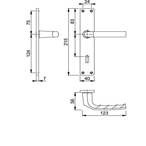 Langschild-Drückergrt. Birmingham 1117/202SP OB VK 8mm Entf. 72mm A...-232169
