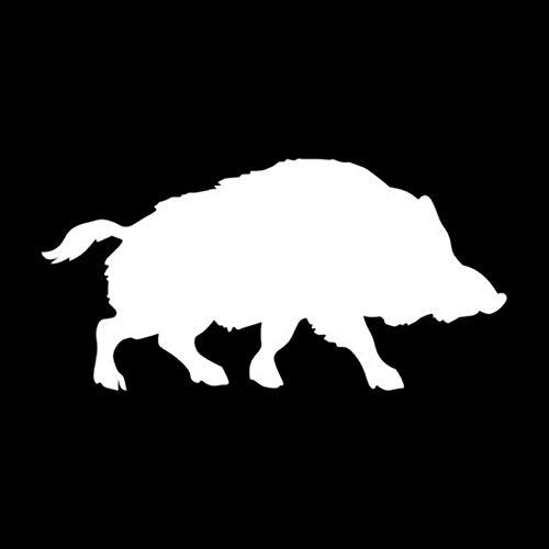 SDYGP Auto-Label-Aufkleber 15,2 * 7,6 cm Wildschwein Schwein Interessantes Auto Styling Dekorative Autoaufkleber Und Abziehbilder Schwarz/Silber