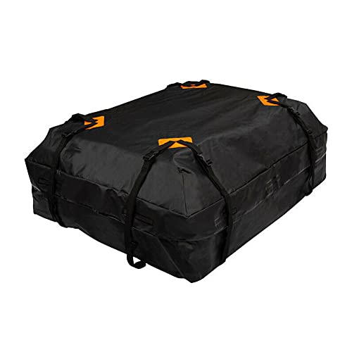 Roeam Cofre Techo de Coche Portaequipajes,425L Bolso Impermeable para el Techo del Coche,Almacenamiento para Viaje Fácil de Instalar,112 * 87 * 44cm