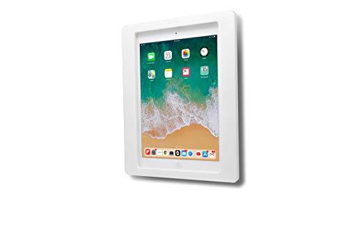 TABcare Anti-Theft Acrylic VESA Enclosure for Apple iPad Mini 1/2/3 with Free Wall Mount Kit & 90-Degree Angle Charge Cable (iPad Mini 1/2/3 8', White)