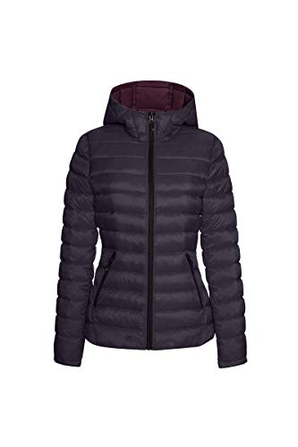 HFX Damen Lightweight Packable Jacket Isolierte Jacke, Aubergine/Bordeaux, Medium
