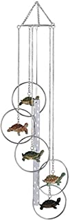 StealStreet SS-G-155.06 5-Ring Polyresin Charm Turtle Hanging Garden Decoration Wind Chime