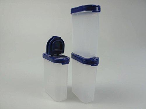 TUPPERWARE Gewürz-Riesen 270ml blau Behälter gewürz Gewürzbehälter (3)