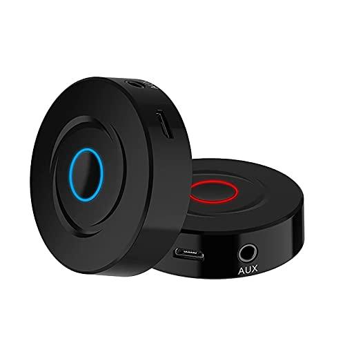 FanLa Receptor Transmisor Bluetooth 5.0, Adaptador Bluetooth Portátil Inalámbrico 2 en 1 con Cable de Audio de 3.5mm, para TV / Car Audio Aux / Auriculares / Altavoces / Estéreo Doméstico