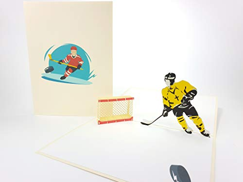 Hockey NHL, Sport, Golf Club, Landmark Pop Up Grußkarte Mercedes-Benz Auto Jahrestag Baby Happy Geburtstag Ostern Mutter Thank You Valentine 's Day Hochzeit Kirigami Papier Craft Postkarten
