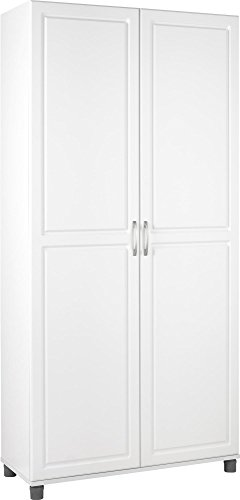 SystemBuild Kendall 36 Utility Storage Cabinet, White