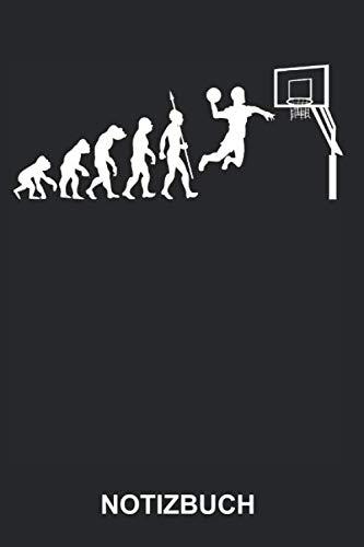Notizbuch: Basketballer Basketball Spieler Basketballspieler Sport Evolution Lustig Witzig | Gepunktetes Notizbuch, Tagebuch, Notizheft, Schreibheft | ... Seiten punktiert | Softcover | weißes Papier