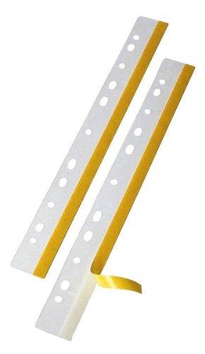 Veloflex 2001100 Heftfix Heftstreifen, Abheftstreifen, DIN A4 292 mm, 50er Packung, selbstklebend, glasklar