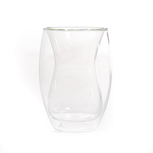 YEM 6 x 180ml doppelwandige Thermo-Gläser, Tee-Glas Set, Kaffee-Gläser, Tee-Tassen, Thermo-Tassen, Doppelwandgläser, Chai-Ci