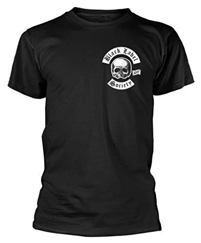 Black Label Society 'Skull Logo Pocket' (Black) T-Shirt (XX-Large)