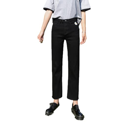 Pantalones Vaqueros deliciosos para Mujer, Cintura Media, Lavado a la Piedra, Que Adelgaza instantáneamente, Tendencia elástica, Color sólido, tamaño Grande 32
