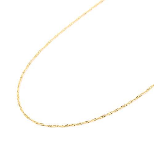 純金 スクリュー ネックレス チェーン ゴールド 50cm 幅 1.0mm 造幣局の検定マーク刻印 24金