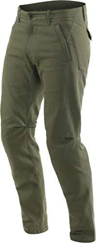 Dainese Chinos Pantalones de motorista, color verde, talla 40