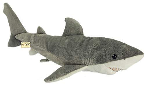Zaloop Weisser Hai ca. 50 cm Plüschtier Kuscheltier Stofftier Plüschhai 35