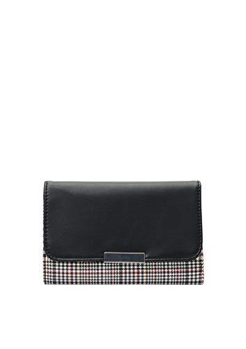 s.Oliver (Bags Damen 39.912.93.2386 Geldbörse, Schwarz (Grey/Black Check), 1x10x15,5 cm