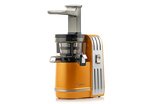 Sana Juicer EUJ-828 in Matt-Orange - Vertikaler Slow Juicer