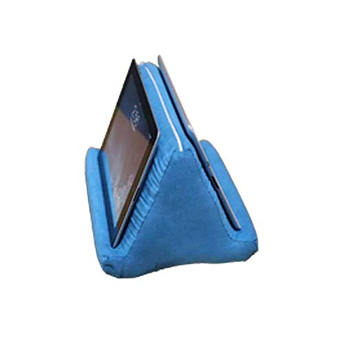 Tablet Pillow Stand,Portable Lightweight Tablet Wedge Pillow Tablet Sofa Tablet Pillow Portable Soft Triangle Tablet Stand for Phone Ipad (Blue , OneSize)