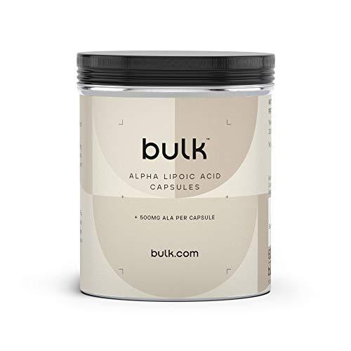 Bulk Pure Alpha Lipoic Acid Capsules, 500 mg, Pack of 60, Packaging May Vary