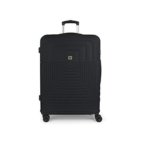 Gabol - Ego | Maleta de Viaje Grande Dura de 54 x 76 x 29 cm con Capacidad para 100 L de Color Gris