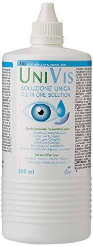 Univis Bio Soluzione Unica (con Acido ialuronico ed Aloe vera) per Lenti a contatto - 360 ml