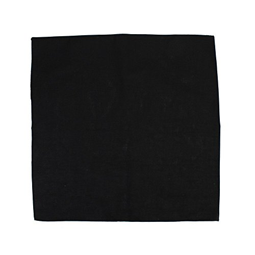 plain BLACK cotton bandana headscarf by TC-Accessories