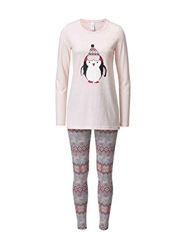 Skiny Damen Zweiteiliger Schlafanzug 082396, Rosa (Pearl Blush 7223), 38